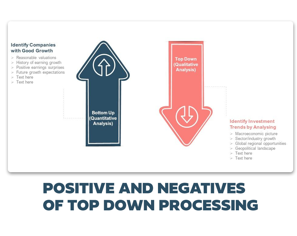 bottom-up vs top-down processing