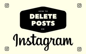 how to delete instagram posts